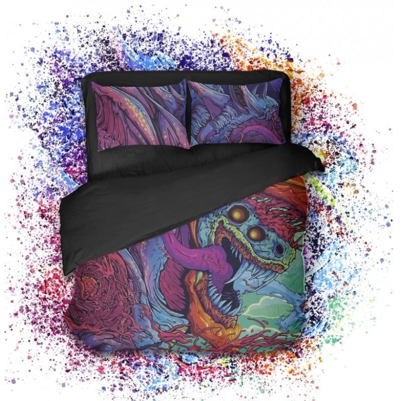 Геймерское постельное бельё SleepHard HyperBeast (1,5 спальный комплект)