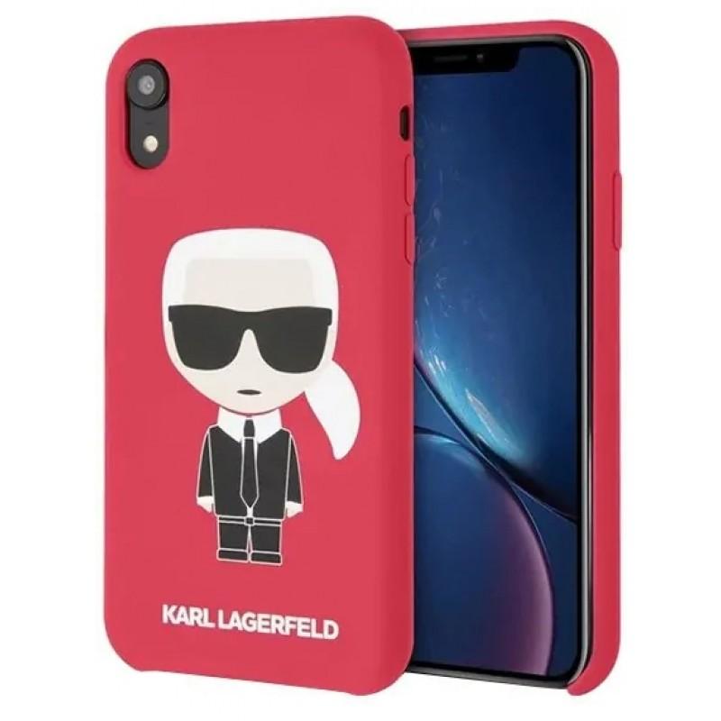 Чехол Karl Lagerfeld Liquid Iconic (KLHCI61SLFKRE) для iPhone XR (Red)