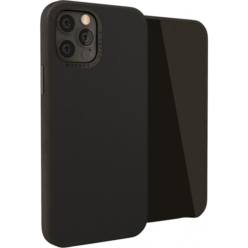 Чехол Pipetto Magnetic Leather Case (P063-77-O) с магнитным держателем в комплекте для iPhone 12/12 Pro (Black)