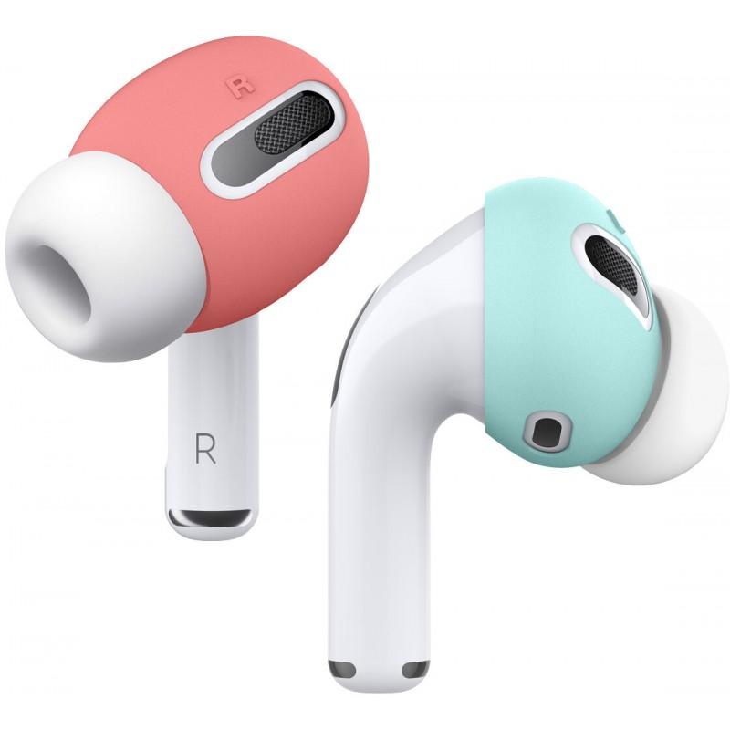 Чехол Elago Ear Tips (EAPP-PADSM-IRCBL) для AirPods Pro (Italian Rose/Coral Blue)