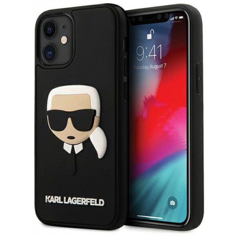 Чехол Karl Lagerfeld 3D Rubber Karl's Head (KLHCP12SKH3DBK) для iPhone 12 mini (Black)