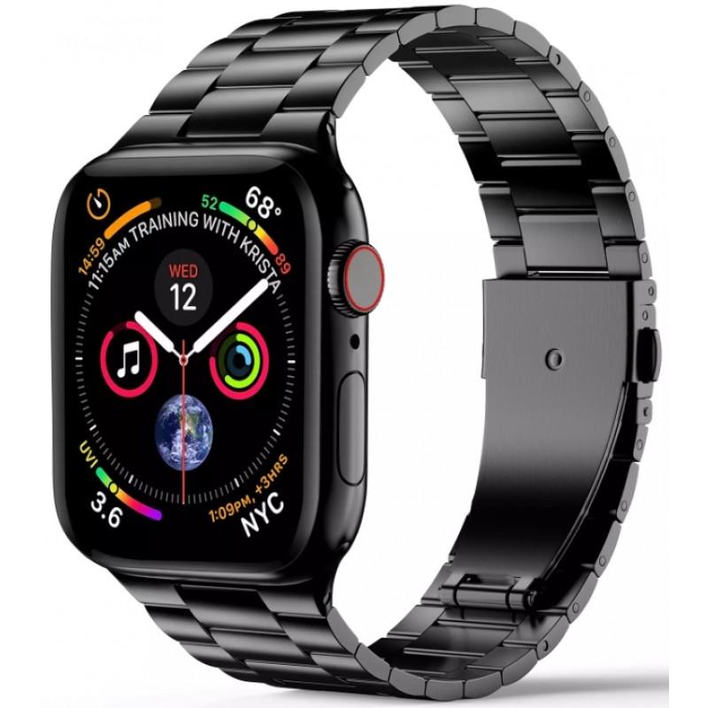Ремешок Wiwu Three Beads Steel Band для Apple Watch Series 1-6/SE 42/44 mm (Space Grey)