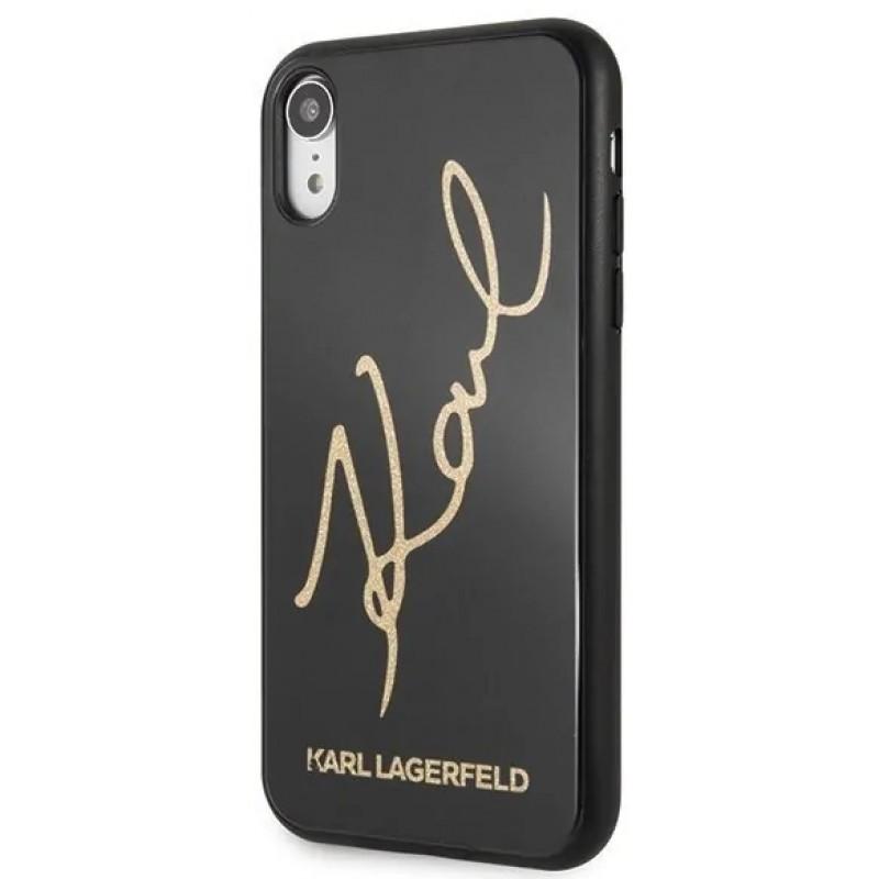 Чехол Karl Lagerfeld Double Layer (KLHCI61DLKSBK) для iPhone XR (Glitter Black)