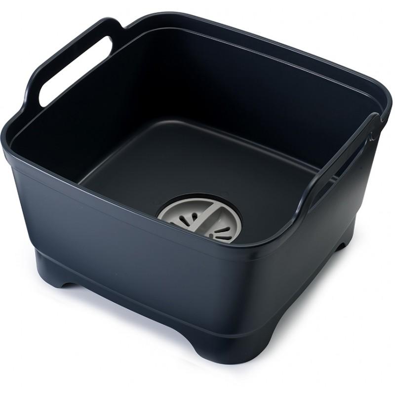 Контейнер для мытья посуды Joseph Joseph Wash&Drain серый
