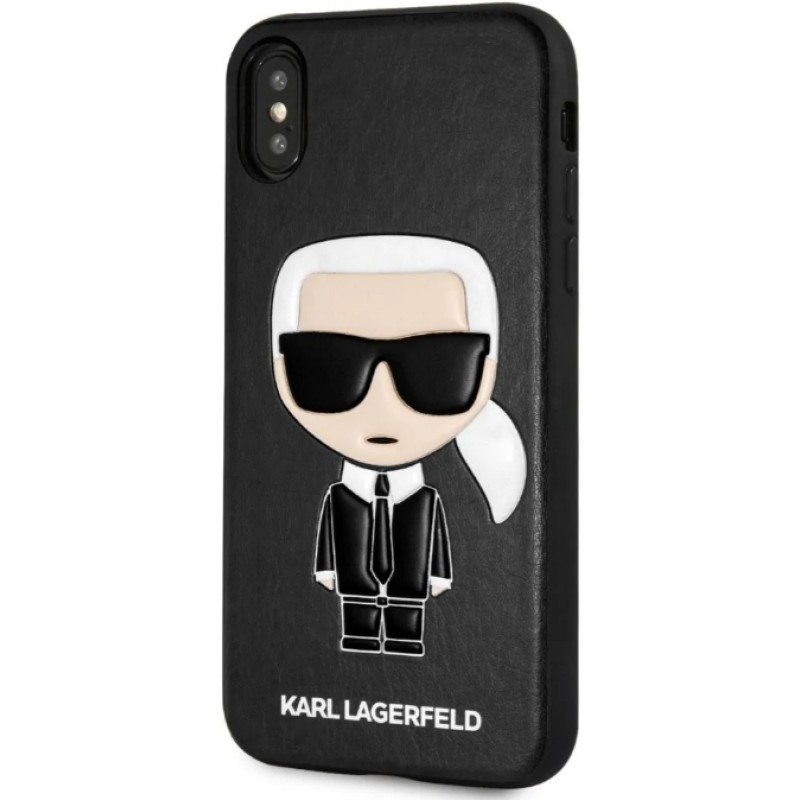 Чехол Karl Lagerfeld PU Leather Iconik (KLHCPXIKPUBK) для iPhone X/Xs (Black)