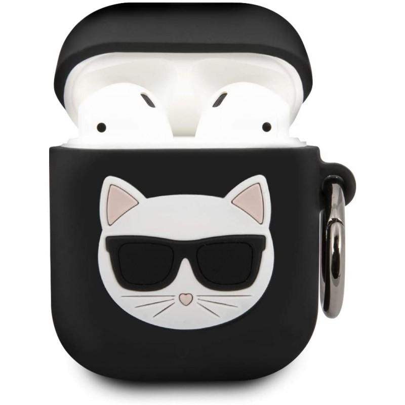Чехол Karl Lagerfeld Silicone Case (KLACA2SILCHBK) для AirPods (Black)