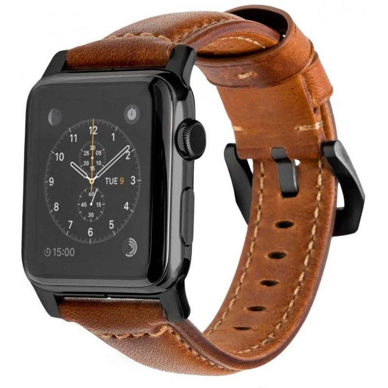 Ремешок Nomad Traditional Strap (NM1A4RBT00) для Apple Watch Series SE/6/2/3/4 42/44 mm (Brown/Black)