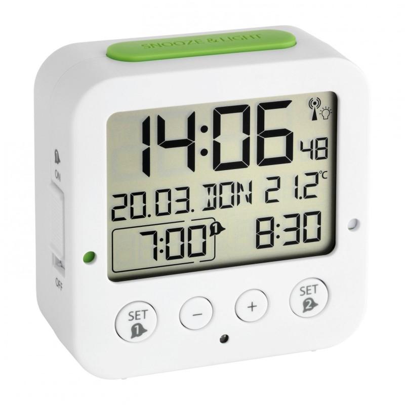 Будильник TFA 60.2528.02 радиоуправляемый (White)