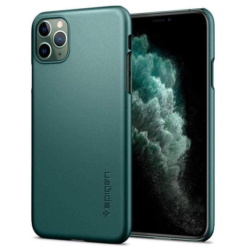 Чехол Spigen Thin Fit (ACS00410) для iPhone 11 Pro Max (Midnight Green)