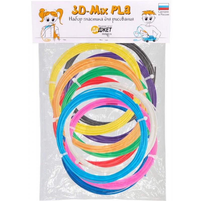Набор пластика для 3D-ручек Даджет 3D-Mix PLA (KIT RU0121PLA)