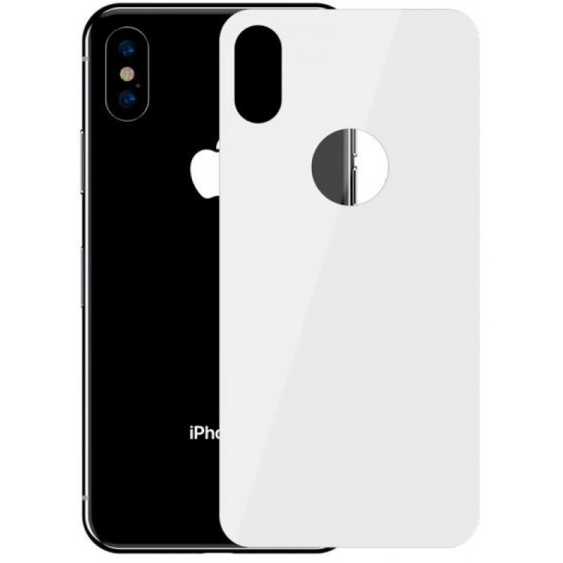 Защитное стекло Baseus Full Coverage Tempered Glass Rear Protector (SGAPIPH65-BM02) для iPhone Xs Max (White)