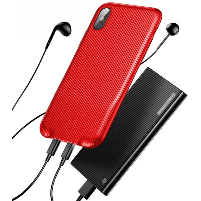 Чехол Baseus Audio (WIAPIPHX-VI09) для Apple iPhone X (Red)