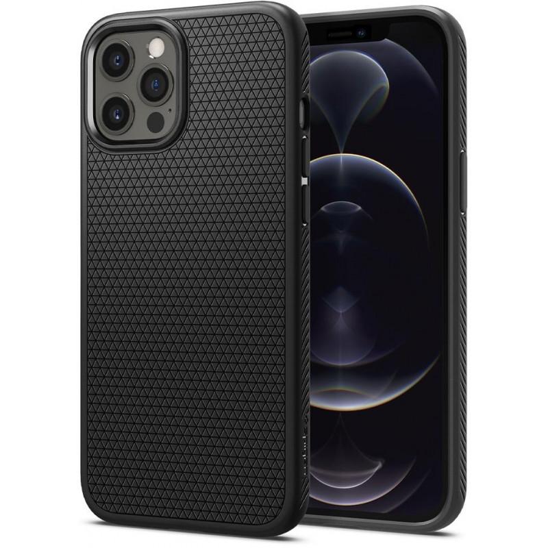 Чехол Spigen Liquid Air (ACS01617) для iPhone 12 Pro Max (Matte Black)