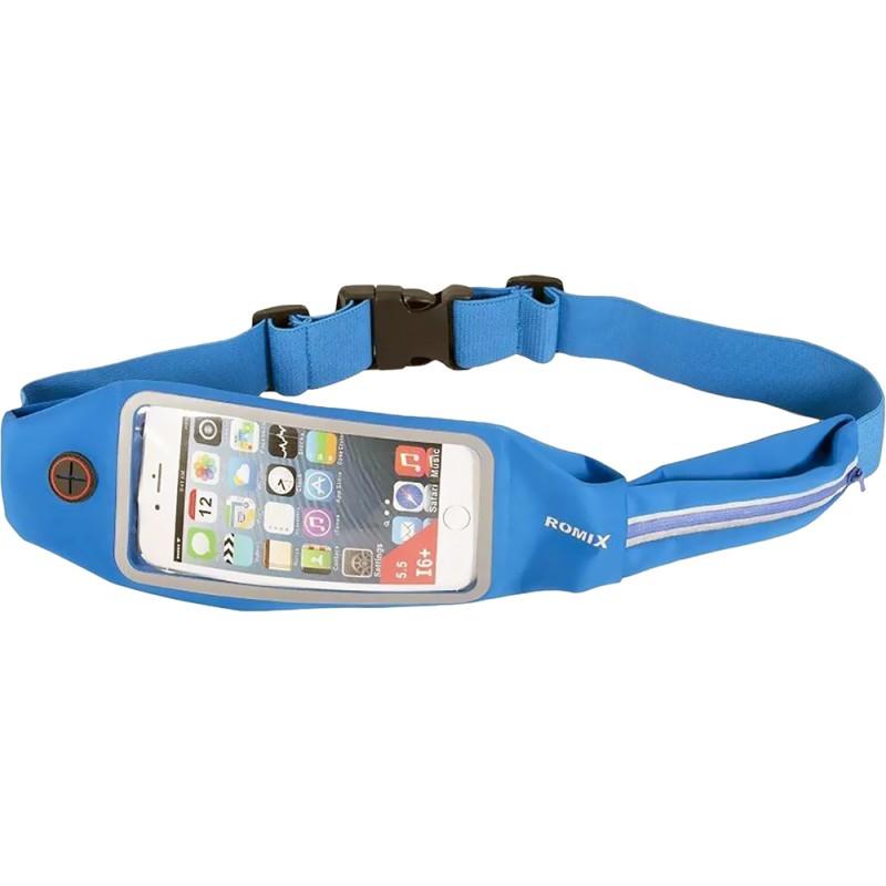 Спортивный чехол на пояс Romix Touch Screen Waist Bag (RH16-5.5BLU) для смартфона 5.5