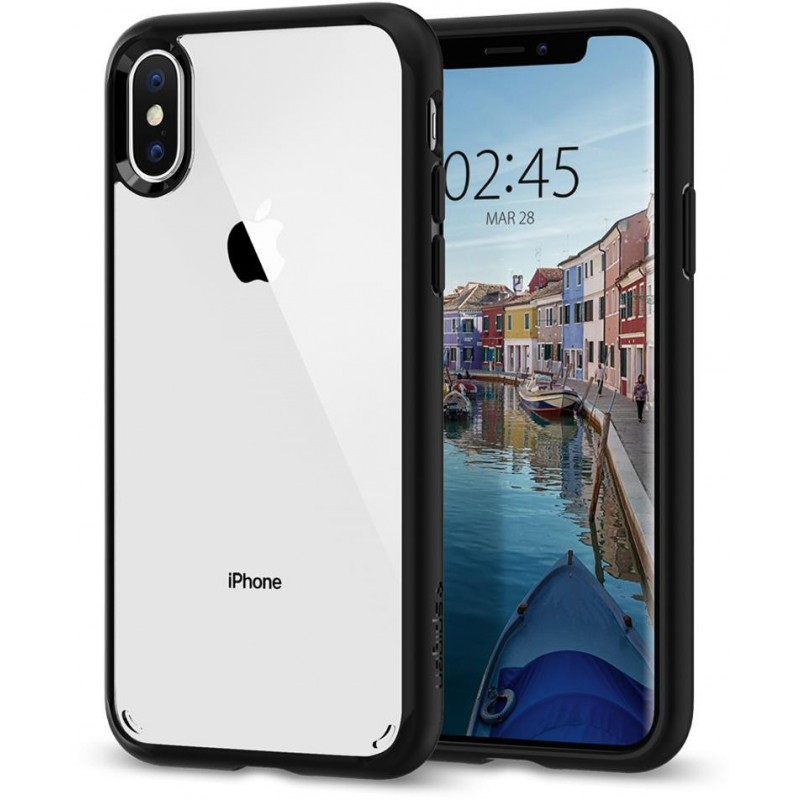 Чехол Spigen Ultra Hybrid (063CS25116) для iPhone X/Xs (Matte Black)