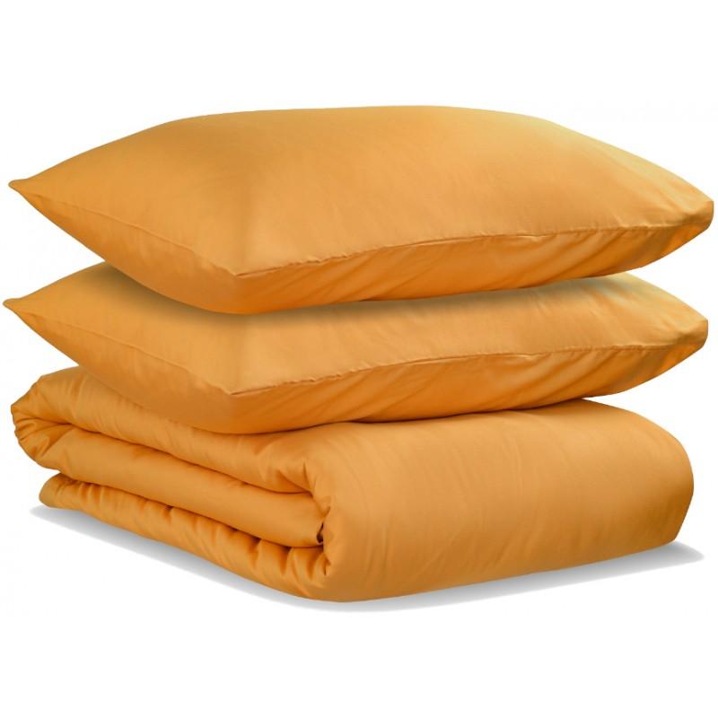Комплект постельного белья полутораспальный из сатина цвета шафрана Tkano из коллекции Wild