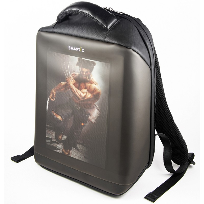 Рюкзак с экраном Smartix LED 5HD (SM0010050001) PowerBank 10000 mAh (Black)