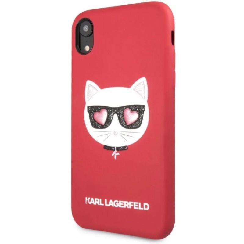 Чехол Karl Lagerfeld PU Leather Choupette (KLHCI61GLRE) для iPhone XR (Red)