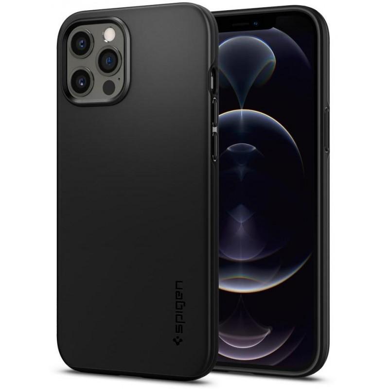 Чехол Spigen Thin Fit (ACS01612) для iPhone 12 Pro Max (Black)