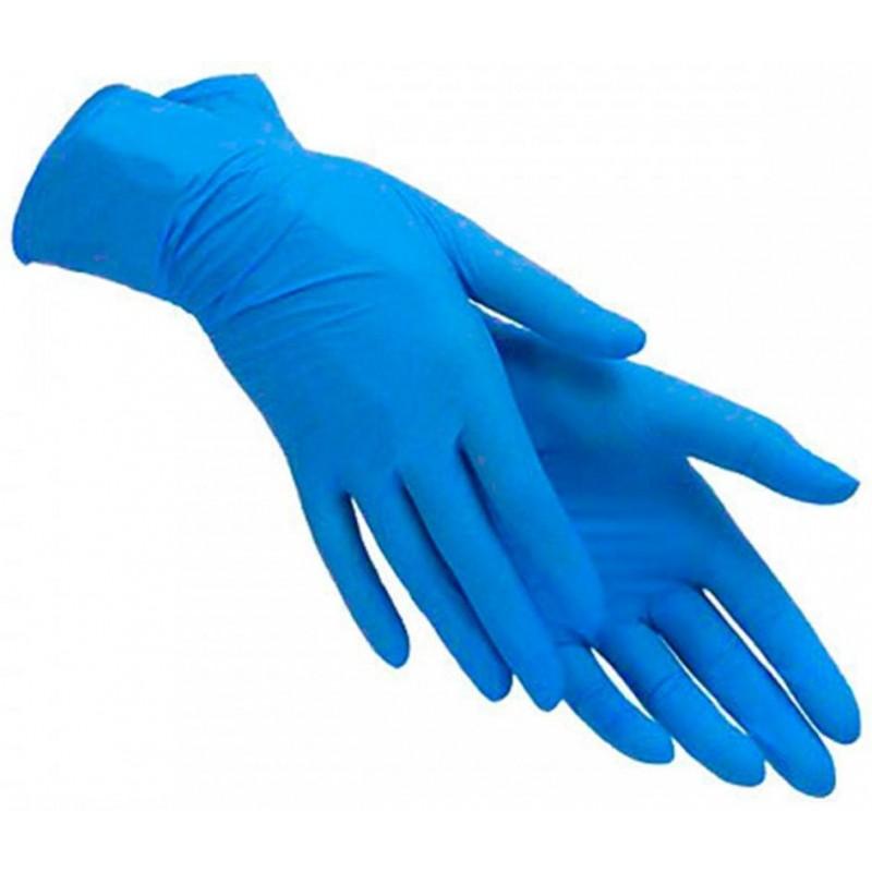 Нитриловые перчатки М 100шт (Blue)