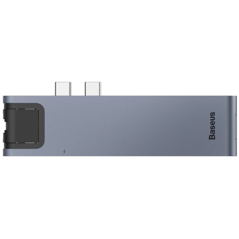 USB-концентратор Baseus Thunderbolt C+Pro (CAHUB-L0G) для MacBook Pro (Deep Grey)