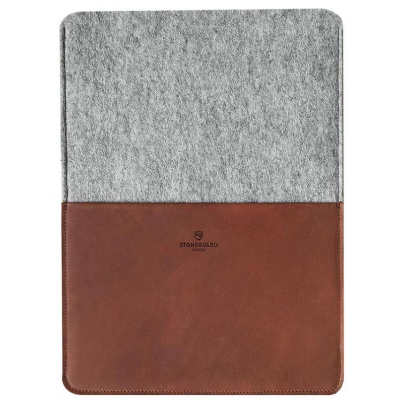 Кожаный чехол Stoneguard 541 для MacBook Pro 13 2016/ Air 13 2018 (Rust/Ash)