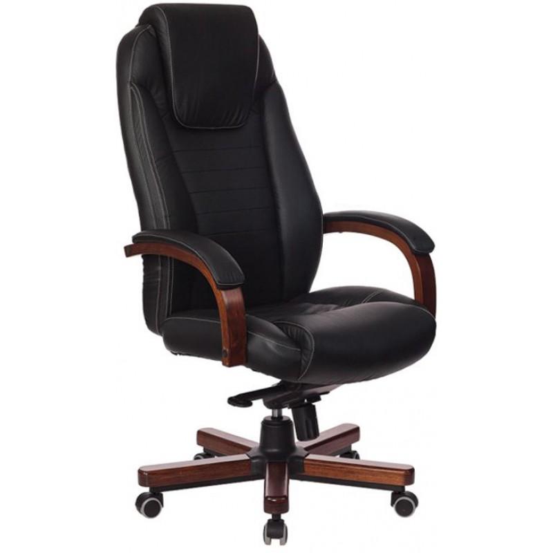 Кресло руководителя Бюрократ T-9923WALNUT (Black)