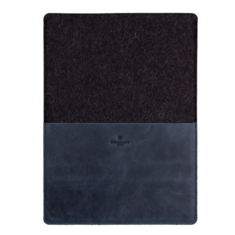 Кожаный чехол Stoneguard 541 для MacBook Pro 13 2016/ Air 13 2018 (Ocean/Coal)