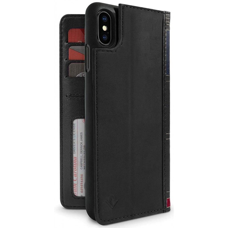 Чехол-книжка Twelve South BookBook (12-1814) для iPhone Xs Max (Black)