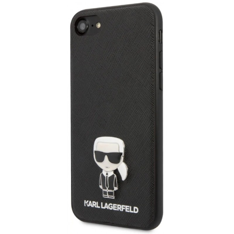 Чехол Karl Lagerfeld PU Leather Saffiano Iconik (KLHCI8IKFBMBK) для iPhone 7/8/SE 2020 (Black)