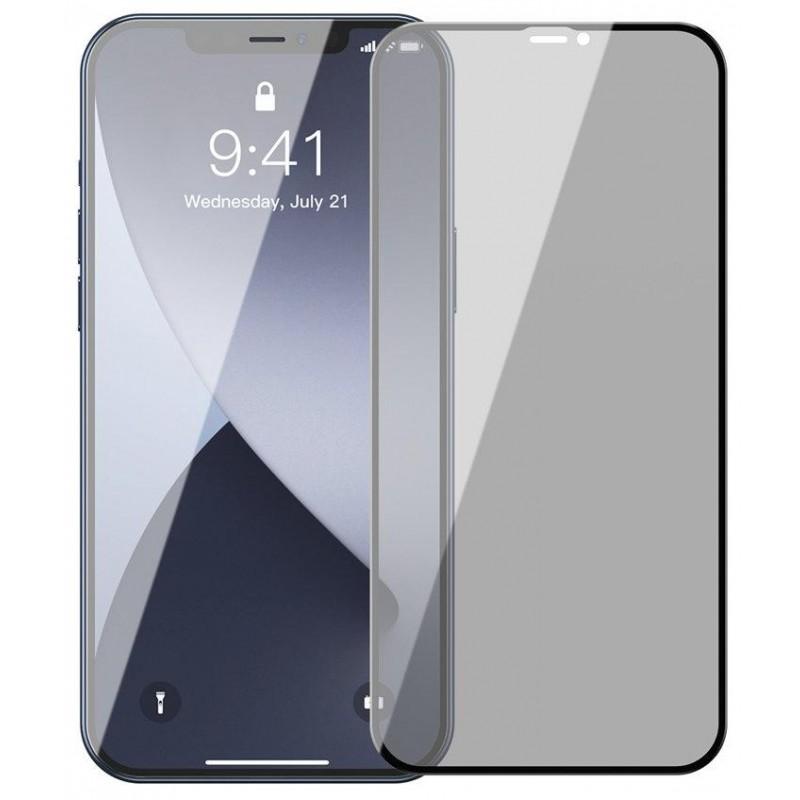 Защитное стекло Baseus Tempered Glass Screen Protector (SGAPIPH67N-ATG01) для iPhone 12 Pro Max (Black)