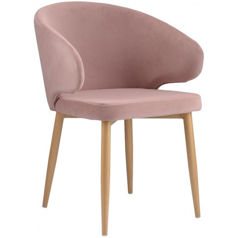 Кресло Berg Cecilia, пудрово-розовое