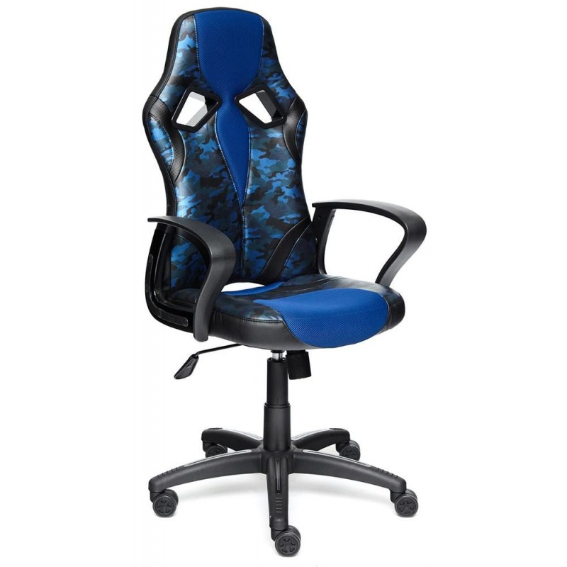 Игровое кресло Tetchair RUNNER MILITARY (Blue)