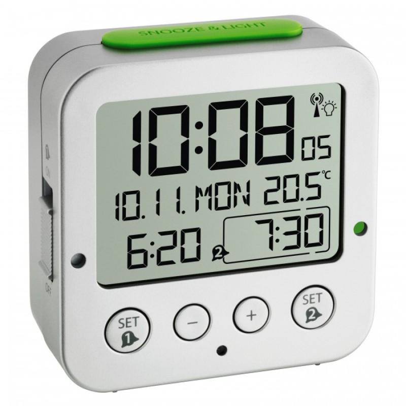 Будильник TFA 60.2528.01 радиоуправляемый (White)
