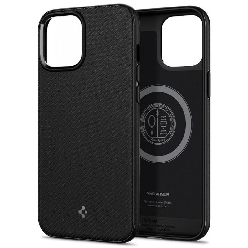 Чехол Spigen MagArmor (ACS01864) для iPhone 12 Pro Max (Black)