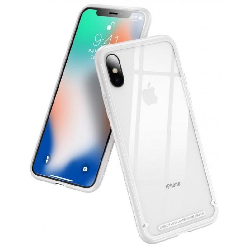 Чехол Baseus See-through Glass (WIAPIPH65-YS02) для iPhone Xs Max (White)