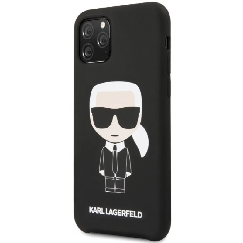 Чехол Karl Lagerfeld Liquid Iconic (KLHCN65SLFKBK) для iPhone 11 Pro Max (Black)