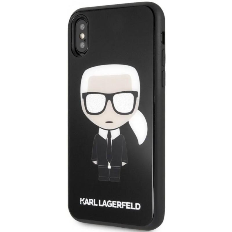 Чехол Karl Lagerfeld Double Layer (KLHCPXDLFKBK) для iPhone X/Xs (Glitter Black)