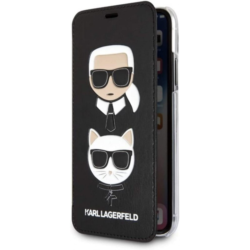 Чехол Karl Lagerfeld PU Leather Booktype (KLFLBKI61KICKC) для iPhone XR (Black)