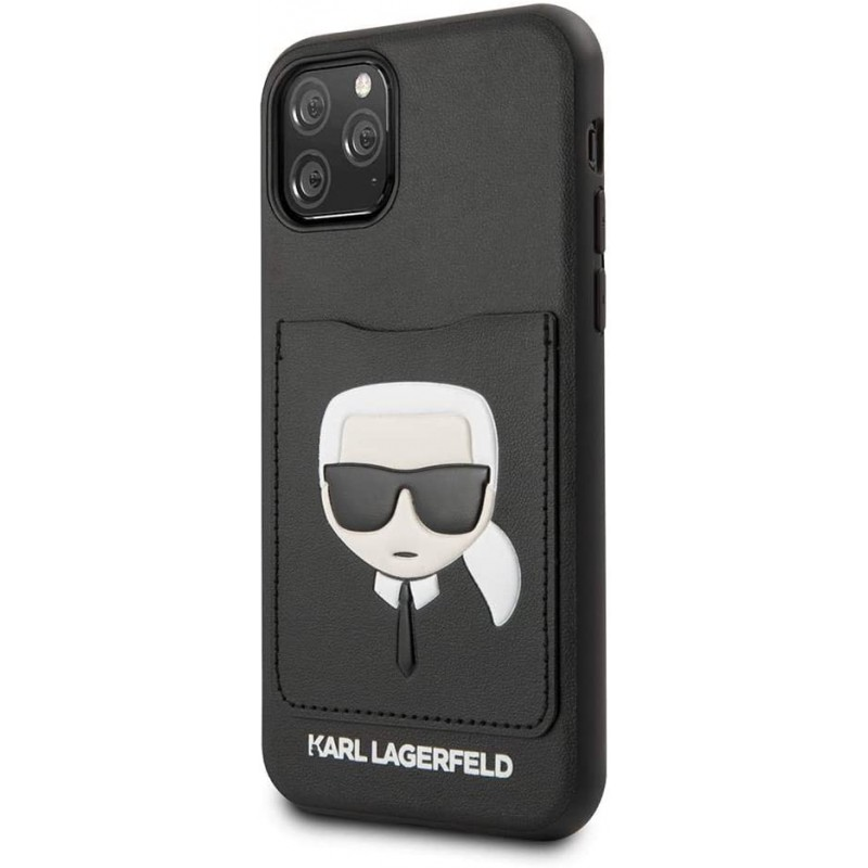Чехол Karl Lagerfeld PU Leather Iconik (KLHCN65CSKCBK) для iPhone 11 Pro Max (Black)