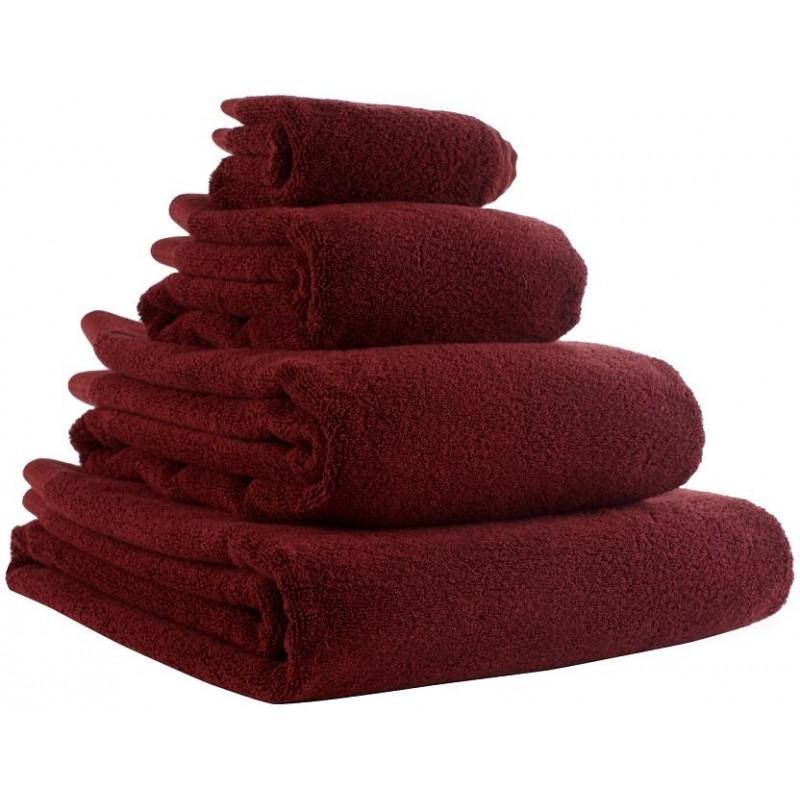 Полотенце банное бордового цвета Tkano Essential, 90х150 см