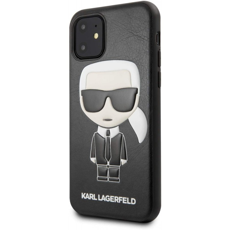 Чехол Karl Lagerfeld PU Leather Iconik (KLHCN61IKPUBK) для iPhone 11 (Black)