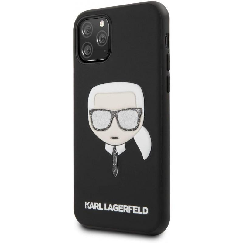 Чехол Karl Lagerfeld PU Leather Iconik (KLHCN58GLBK) для iPhone 11 Pro (Glitter Black)