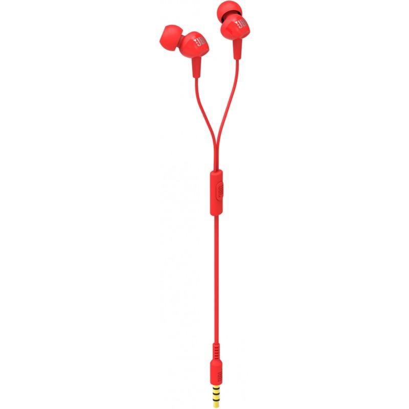Внутриканальные наушники с микрофоном JBL C100SI JBLC100SIURED (Red)