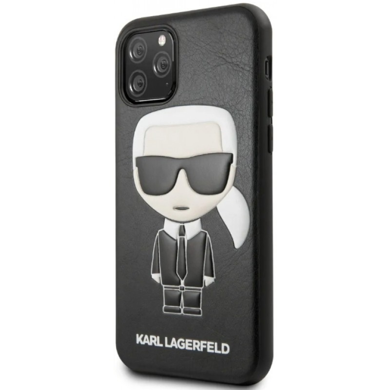 Чехол Karl Lagerfeld PU Leather Iconik (KLHCN58IKPUBK) для iPhone 11 Pro (Black)