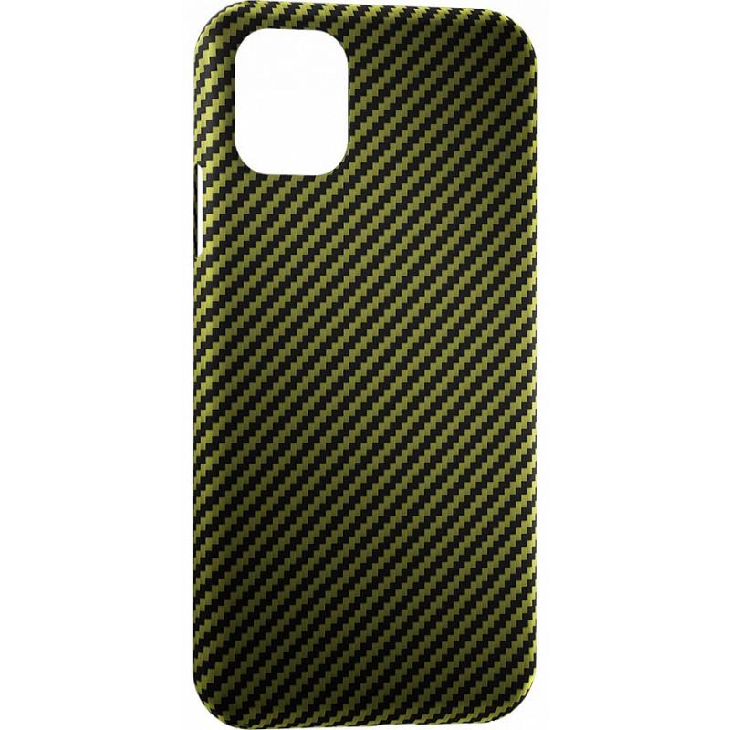Чехол Annet Mancini Carbon Series (AM-11-K-GR) для iPhone 11 (Green Matte)