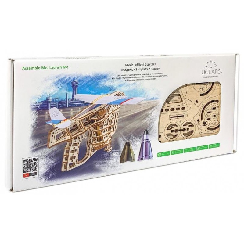 3D-пазл UGears Пускатель самолетиков (70075)