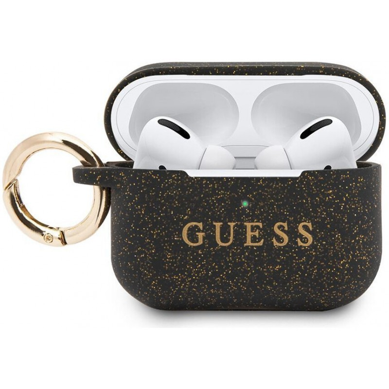 Чехол Guess CG Mobile (GUACAPSILGLBK) для AirPods Pro (Black)