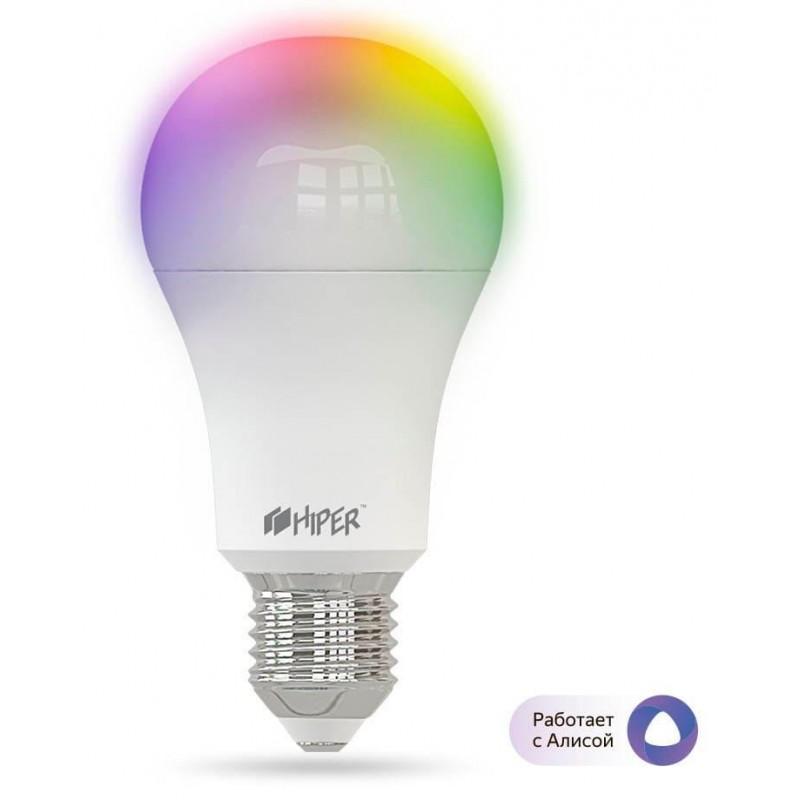 Умная LED лампочка Wi-Fi Hiper IoT A61 RGB работает с Алисой (White)