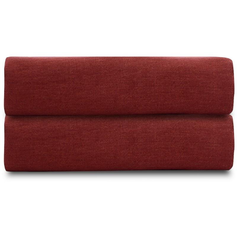 Простыня из стираного льна бордового цвета Tkano Essential, 240х270 см